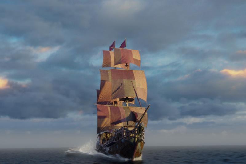 Гифка кораблик плывет по морю, картинки